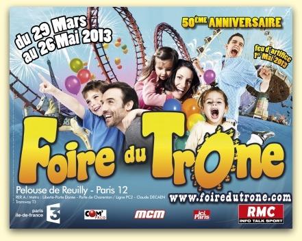 La Foire du Trône du 29 mars au 29 mai 2013