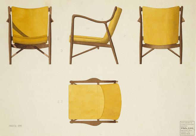 Exposition Asseyez-vous ! — Mobilier et Dessins de Finn Juhl à la Maison du Danemark jusqu'au 28 juillet 2013