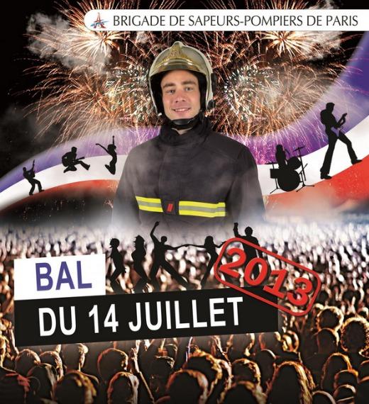Les bals des pompiers du 13 et 14 juillet 2013 à Paris