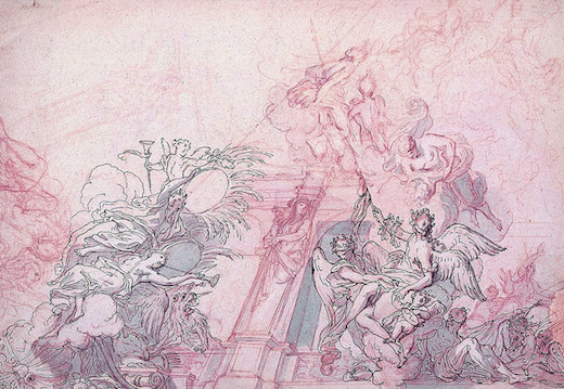 Peupler les cieux - dessins pour les plafonds parisiens au XVIIème siècle au Louvre jusqu'au 19 mai 2014