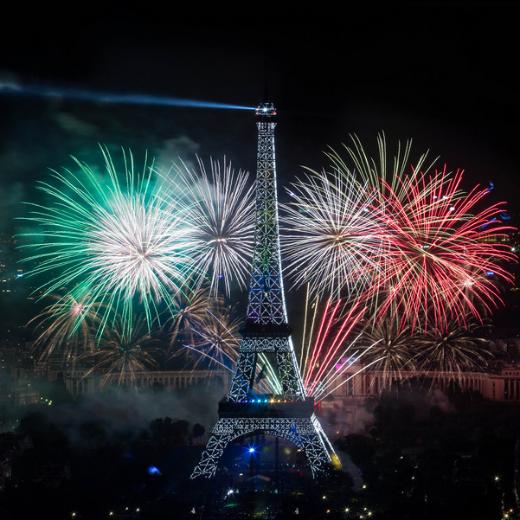 Le 14 juillet 2014 - le feu d'artifice à la Tour Eiffel