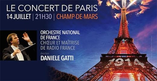 Le Concert de Paris le 14 juillet 2014 à la Tour Eiffel