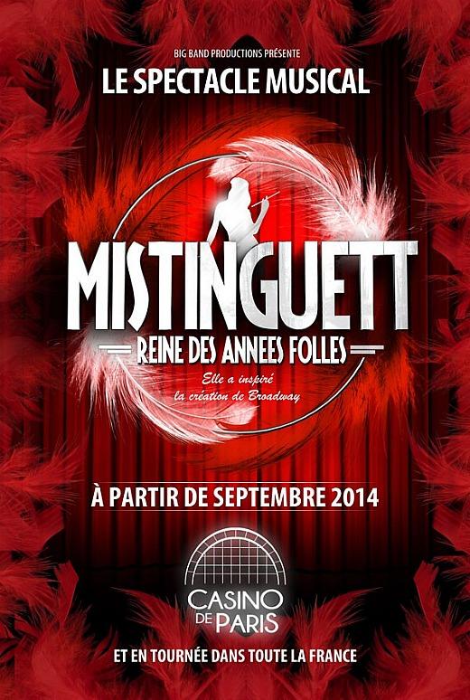 Mistinguett le spectacle au Casino de Paris à partir du 18 septembre 2014