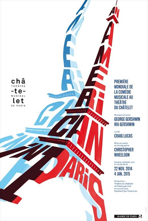 An American in Paris au Théâtre du Châtelet du 22 novembre 2014 au 4 janvier 2015