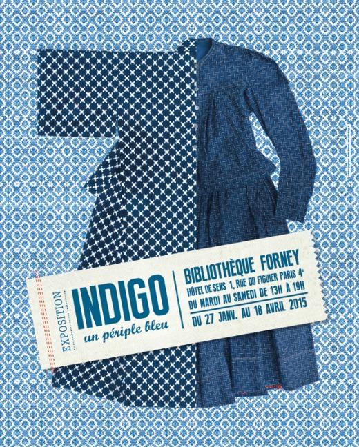 Exposition Indigo, un périple bleu à la Bibliothèque Forney jusqu'au 11 avril 2015
