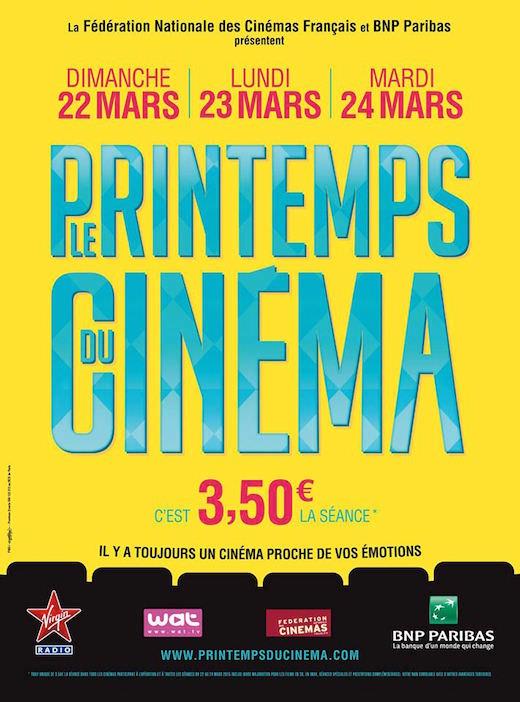 Le Printemps du Cinéma du 22 au 24 mars 2015