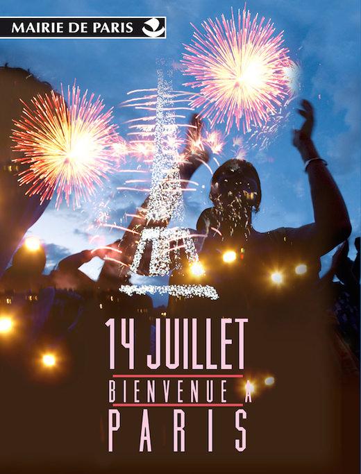 Le feu d'artifice du 14 juillet 2015 à la Tour Eiffel