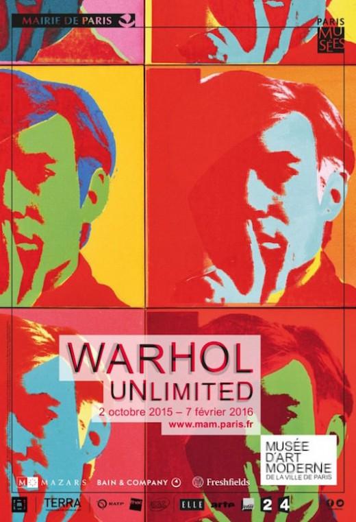 Warhol Unlimited au Musée d'art moderne de la Ville de Paris du 2 octobre 2015 au 7 février 2016