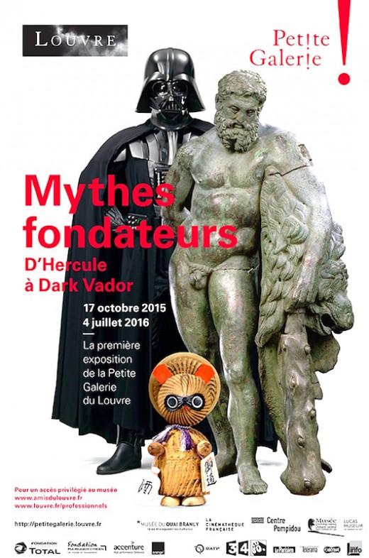 Le Louvre inaugure sa Petite Galerie avec l'exposition Mythes fondateurs - D'Hercule à Dark Vador du 17 octobre 2015 au 4 juillet 2016