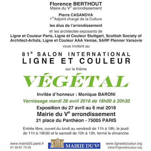 Salon international Ligne et Couleur à la Mairie du 5ème du 27 avril au 6 mai 2016