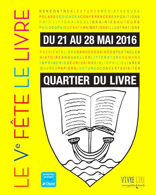 L'Hôtel des Grands Hommes participe au festival Quartier du Livre 2016