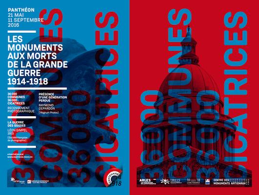 Exposition Les monuments aux morts de la Grande Guerre 1914-1918 au Panthéon jusqu'au 11 septembre 2016