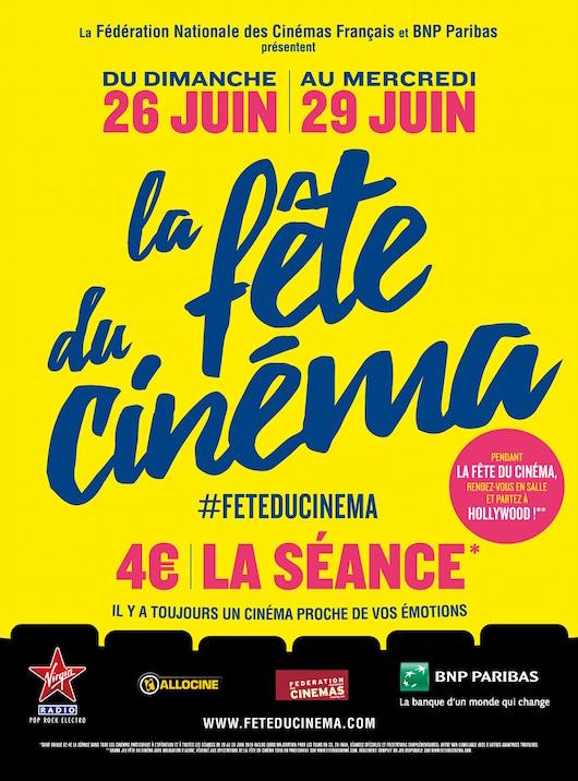 La Fête du Cinéma du 26 au 29 juin 2016