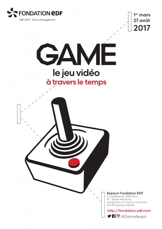 Exposition Game, le jeu vidéo à travers le temps à l'Espace Fondation EDF du 1 mars au 27 août 2017