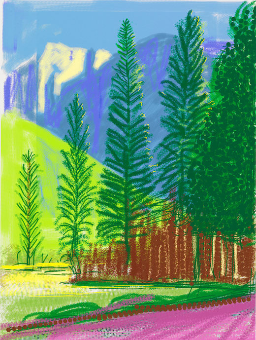 Exposition The Yosemite Suite de David Hockney à la Galerie Lelong jusqu'au 13 juillet 2017