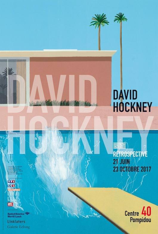 Rétrospective David Hockney au Centre Pompidou du 21 juin au 23 octobre 2017
