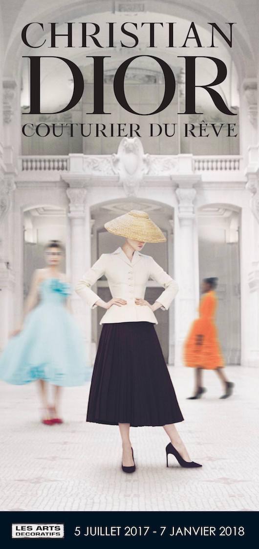 Exposition Christian Dior, couturier du rêve au Musée des Arts Décoratifs du 5 juillet 2017 au 7 janvier 2018