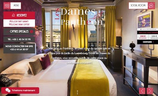 Hôtel les Dames du Panthéon **** réservez sur notre site web pour le meilleur tarif garanti !