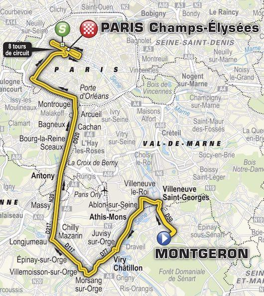 Fin du Tour de France sur les Champs-Élysées dimanche 23 juillet 2017