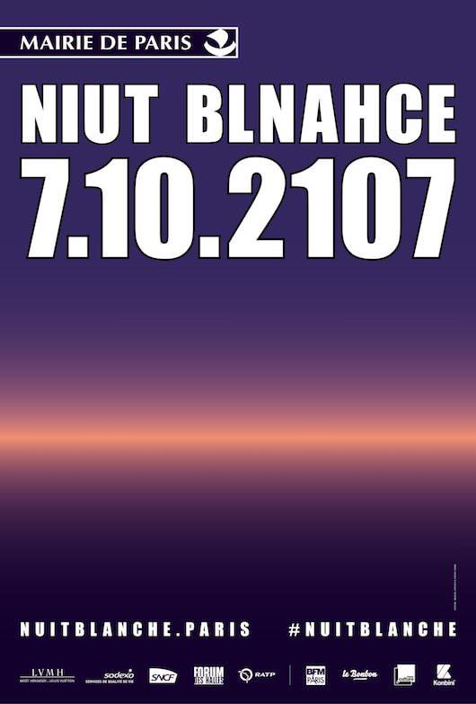La Nuit Blanche, samedi 7 octobre 2017