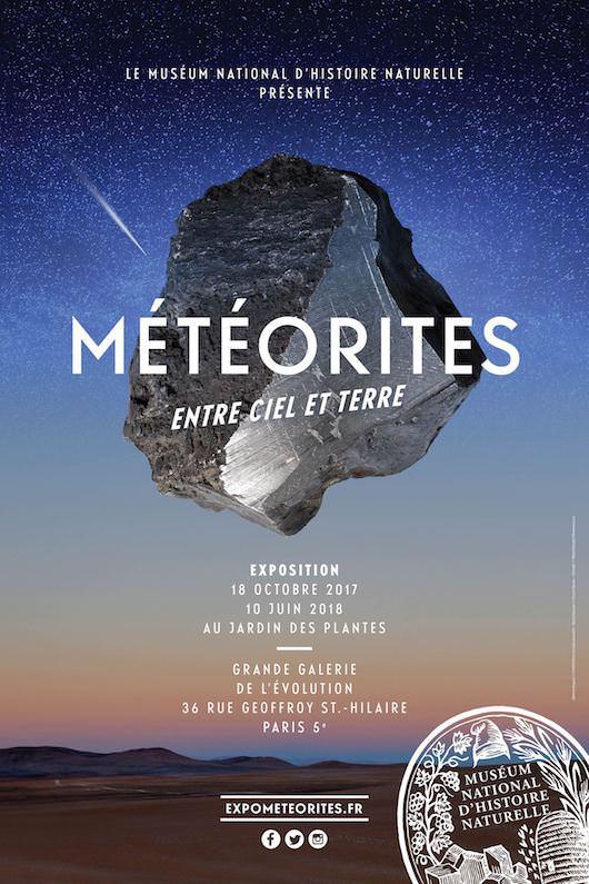 Exposition meteorites au Muséum national d'histoire naturelle du 18 octobre 2017 au 10 juin 2018