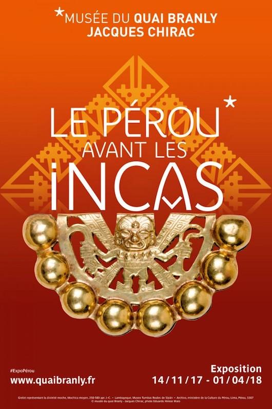 Exposition Le Pérou avant les Incas au Musée de Quai Branly du 14 novembre 2017 au 1 avril 2018