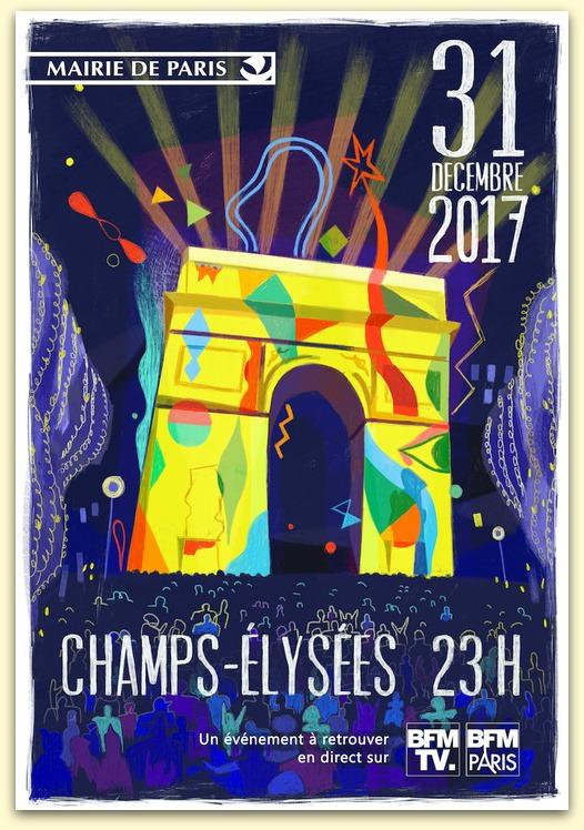 Le Réveillon du nouvel an sur les Champs Elysées