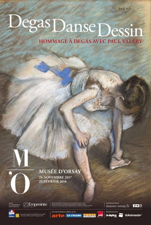 Exposition Degas Danse Dessin au Musée d'Orsay jusqu'au 25 février 2018