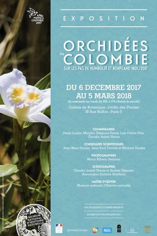 Exposition d'Orchidées de Colombie au Jardin des Plantes du 6 décembre 2017 au 5 mars 2018