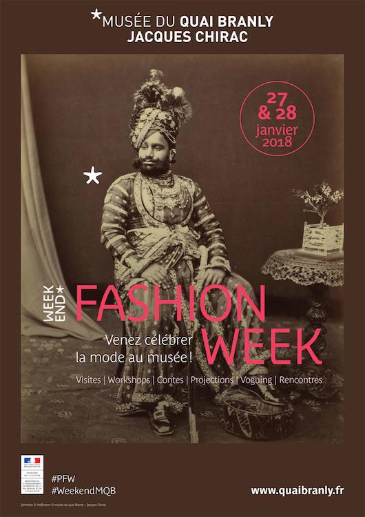Week-end Fashion Week au Quai Branly le 27 & 28 janvier 2018