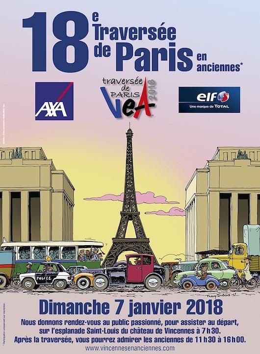 18ème Traversée de Paris en anciennes dimanche 7 janvier 2018