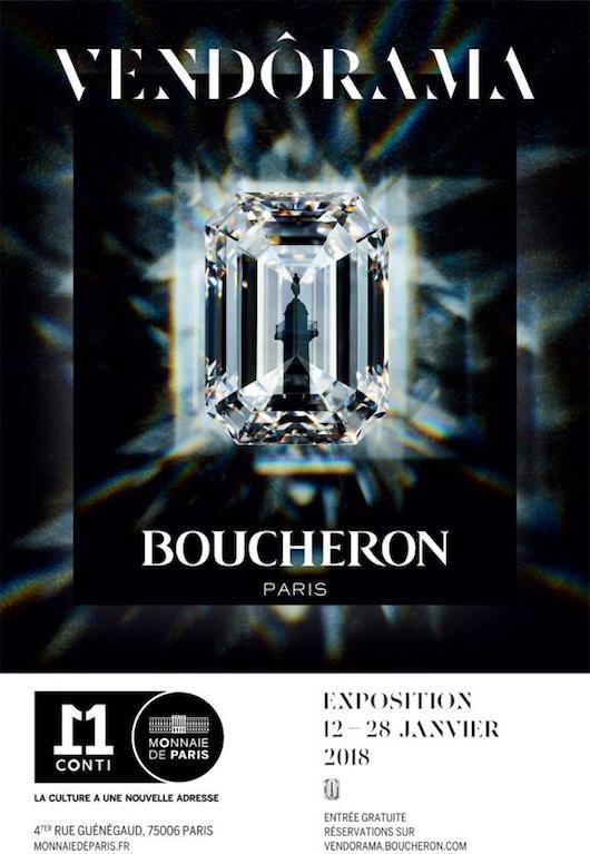 Vendôrama - exposition Boucheron à la Monnaie de Paris jusqu'au 28 janvier 2018