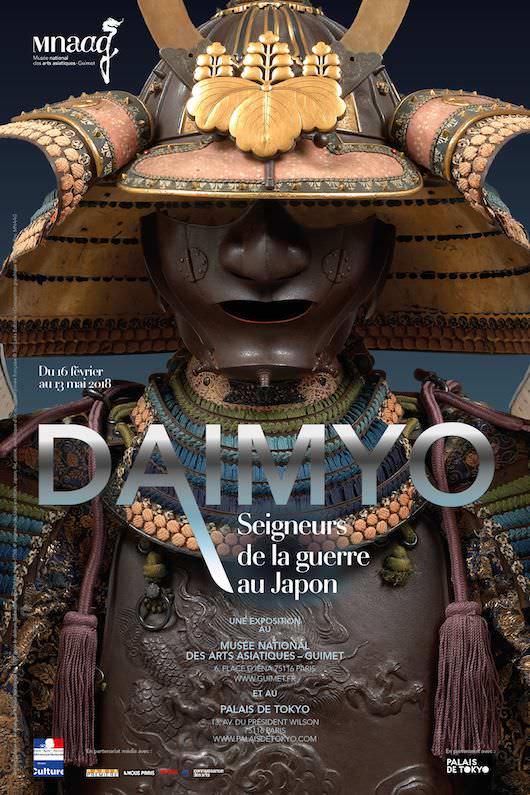 Exposition Daimyo, Seigneurs de la guerre au Japon au Musée Guimet et au Palais de Tokyo du 15 février au 13 mai 2018