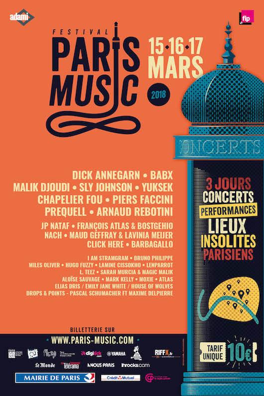 Paris Music Festival le 15, 16 & 17 mars 2018
