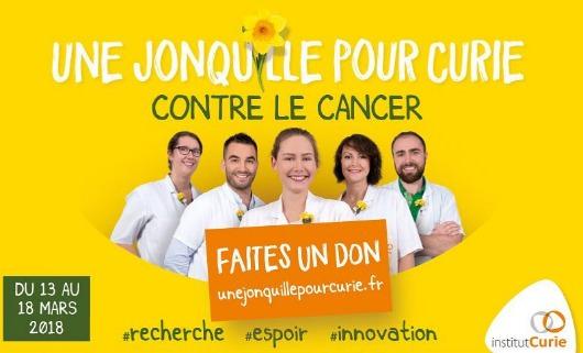 Une jonquille pour Curie sur la place du Panthéon jusqu'au 17mars 2018