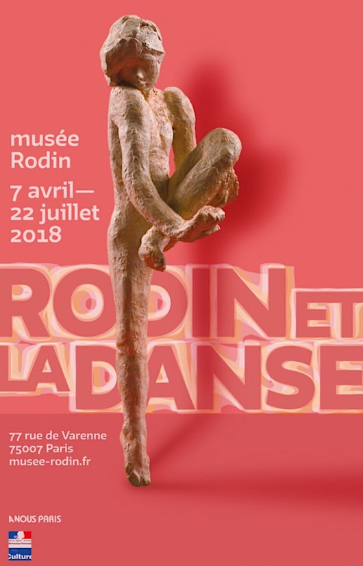 Exposition Rodin et la danse au Musée Rodin du 7 avril au 22 juillet 2018