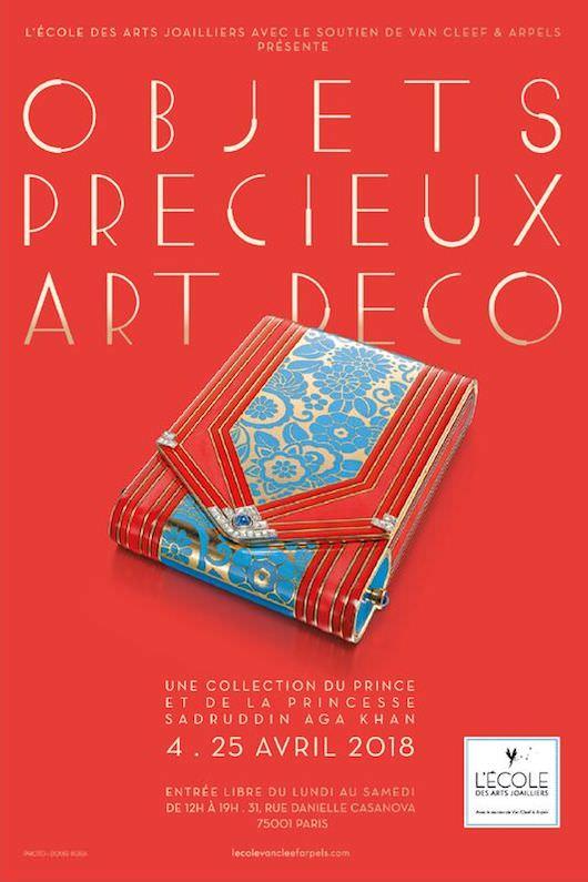 Exposition d'objets précieux Art Déco à l'Ecole des Arts Joailliers jusqu'au 25 avril 2018