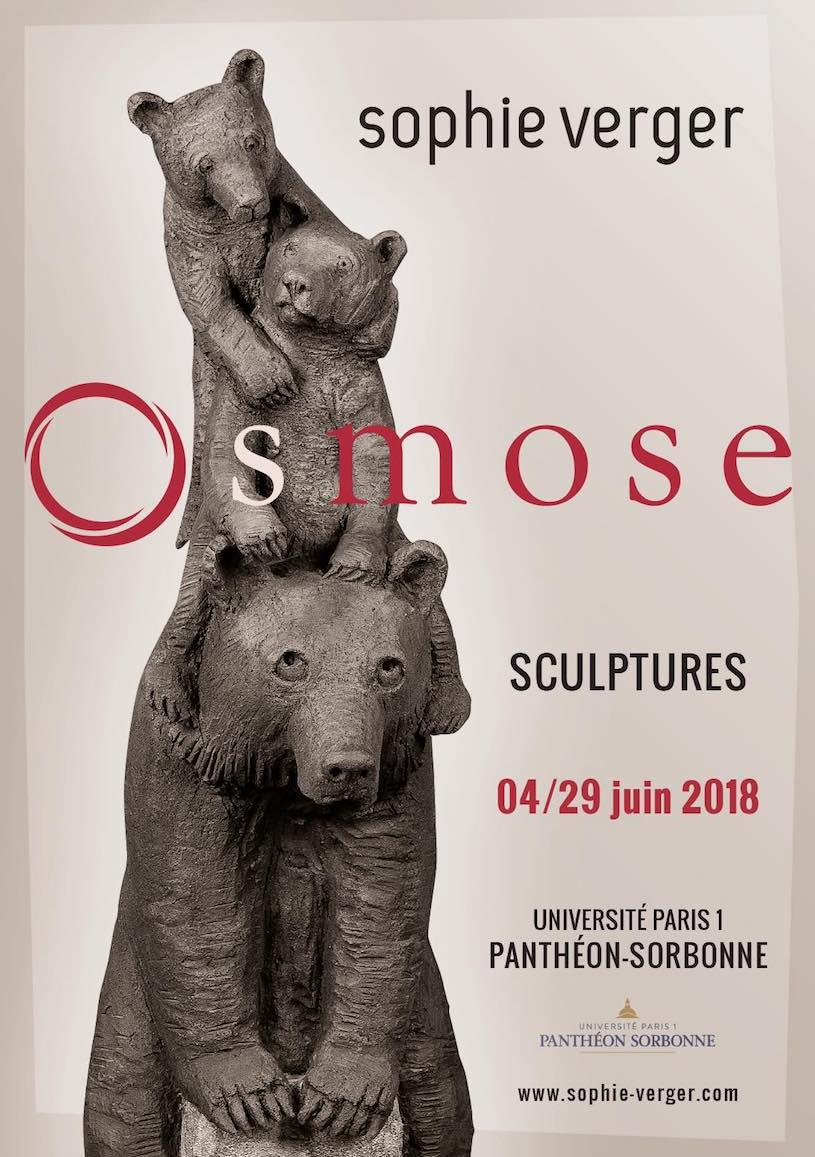 Exposition Osmose de Sophie Verger à la Sorbonne du 4 au 29 juin 2018