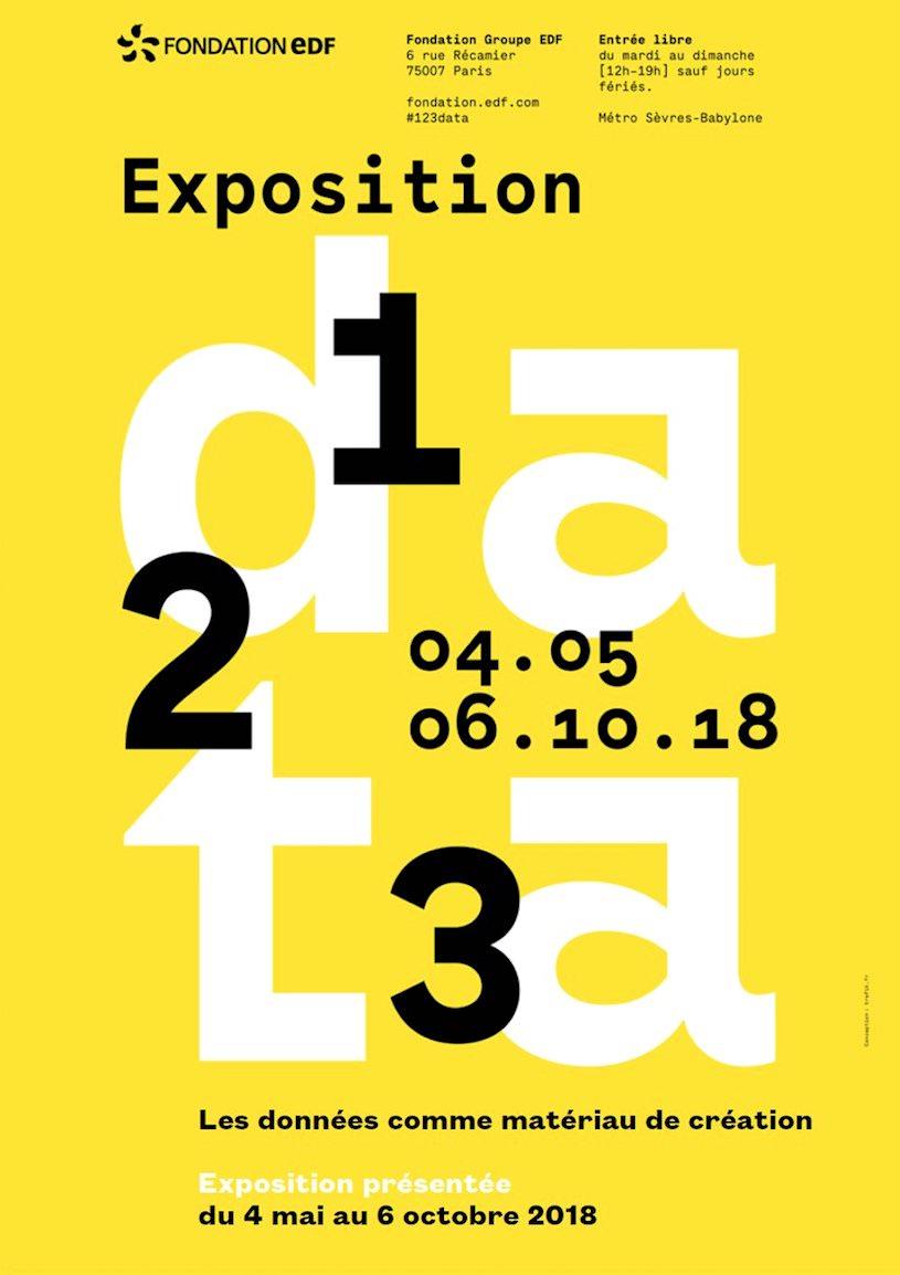 Exposition 1, 2, 3 data à la Fondation Groupe EDF jusqu'au 6 octobre 2018