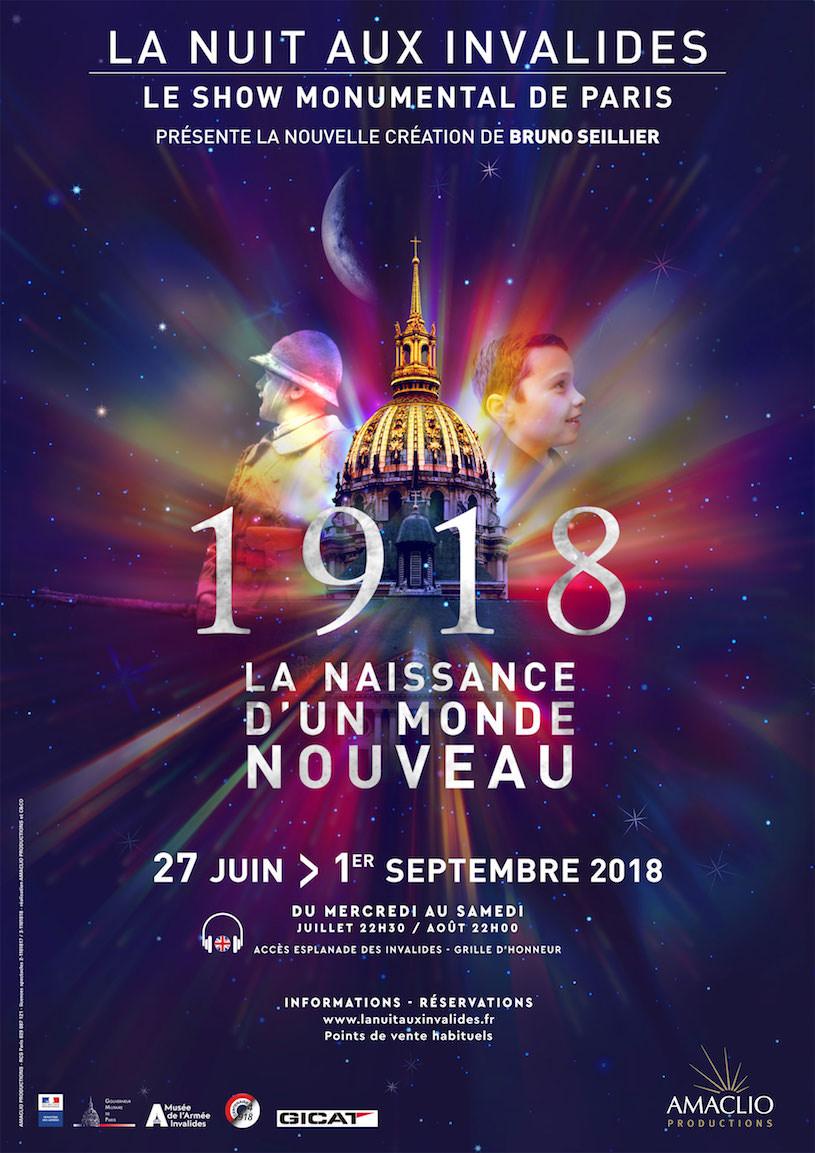 Spectacle La Nuit aux Invalides jusqu'au 1er septembre 2018