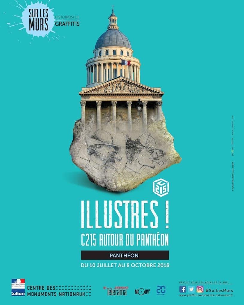 Exposition <em>Illustres ! C215 autour du Panthéon</em> jusqu'au 8 octobre 2018