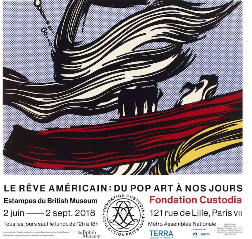 The American Dream: pop to the present exhibition at the Custodia Foundation until 2nd September 2018