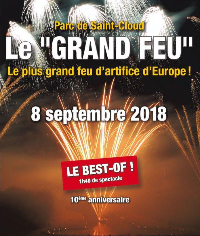 Le Grand Feu de Saint-Cloud le 8 septembre 2018