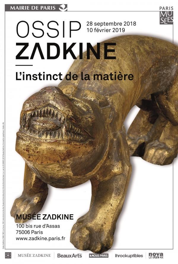 Exposition Ossip Zadkine - l'Instinct de la matière au Musée Zadkine du 28 septembre 2018 au 10 février 2019
