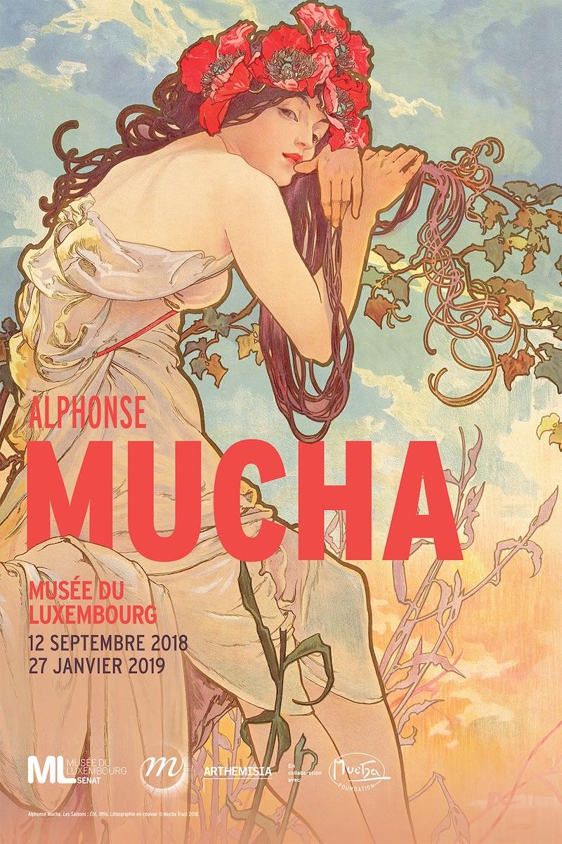 Exposition Alphonse Mucha au Musée du Luxembourg du 12 septembre 2018 au 27 janvier 2019