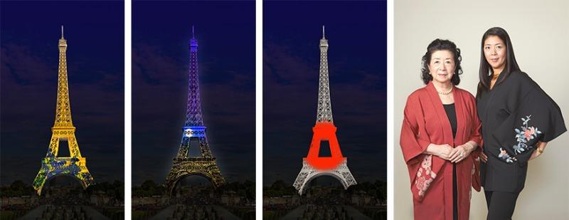 La Tour Eiffel illuminée aux couleurs du Japon le 13 & 14 septembre 2018