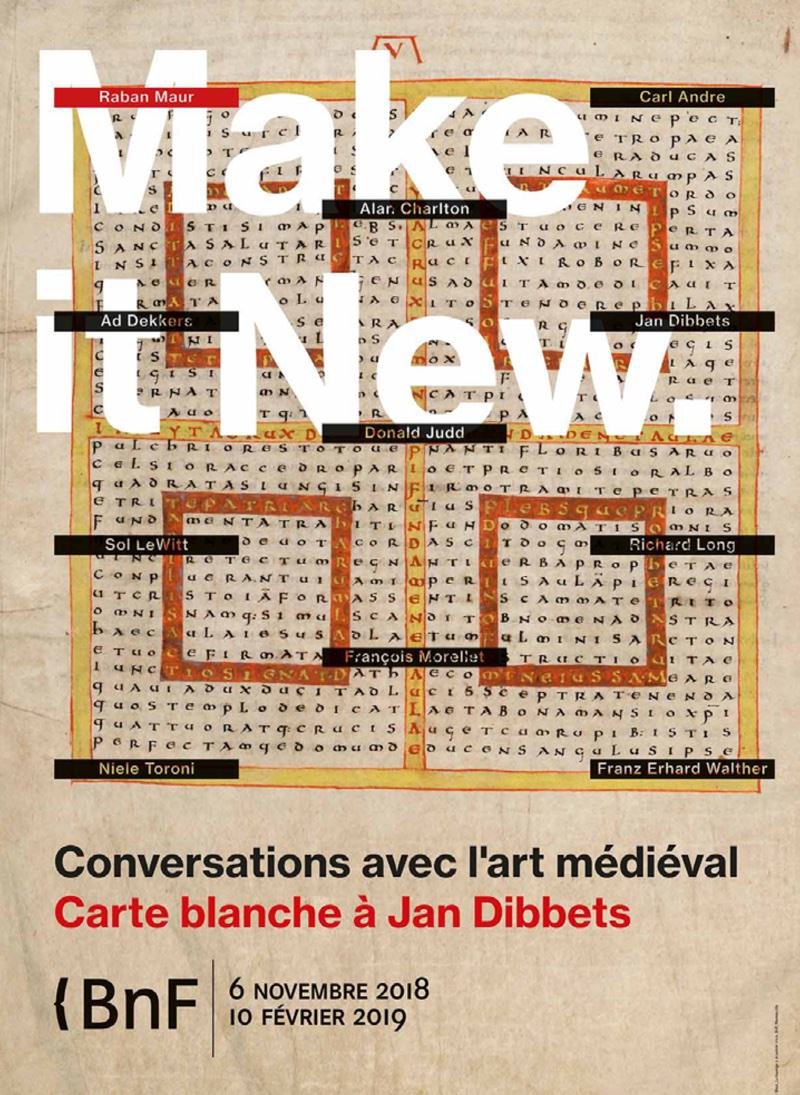 Exposition Make it new - carte blanche à Jan Dibbets à la BNF du 6 novembre 2018 au 10 février 2019