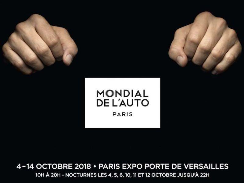 Le Mondial de l'Auto à la Porte de Versailles du 4 au 14 octobre 2018