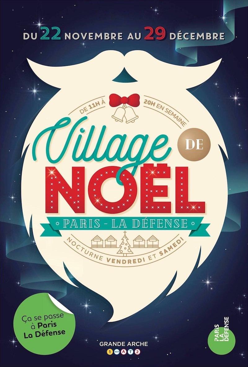 Le Village de Noël de La Défense jusqu'au 29 décembre 2018