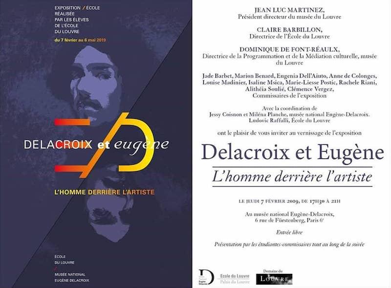 Exposition Delacroix et Eugène au Musée Delacroix, du 7 février au 6 mai 2019